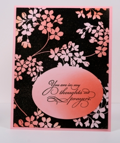 glory of modesty background stamp