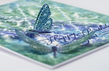 Watercolour dragonfly closeup
