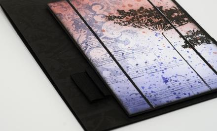black damask detail
