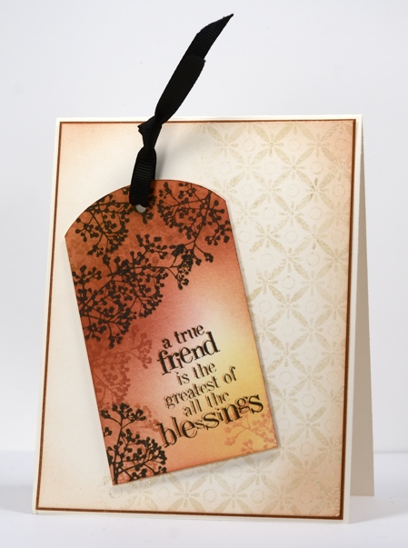 Shabby chic tag card