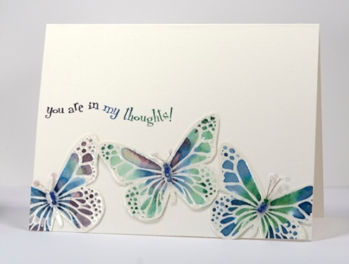 watercolour butterflies Heather Telford