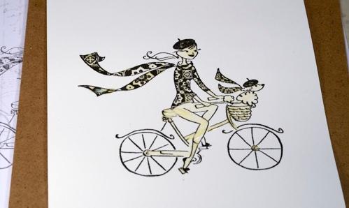 _DSC1338 Watercolour cyclist1a