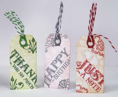 Tags with twine