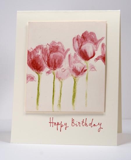 Tulips with gelatos