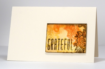Watercolour mini-card