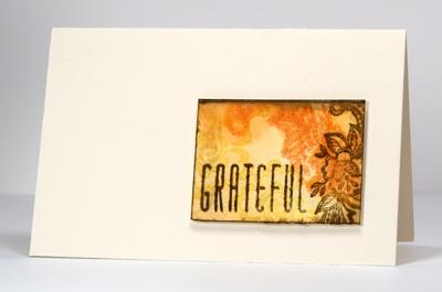 Watercolour mini-card