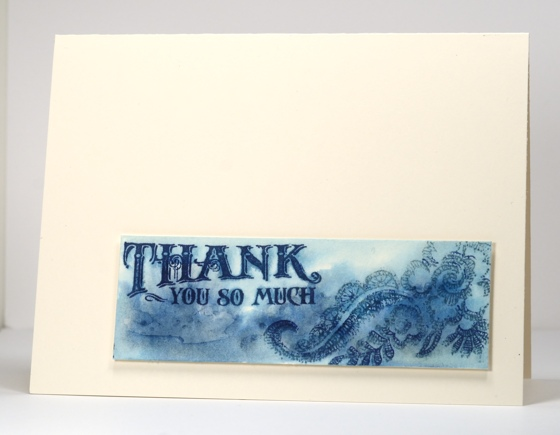 Watercolour blue thank you