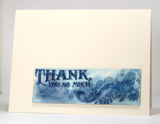 Watercolour blue thank you