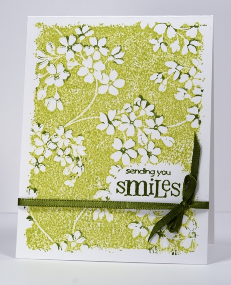 green floral one layer