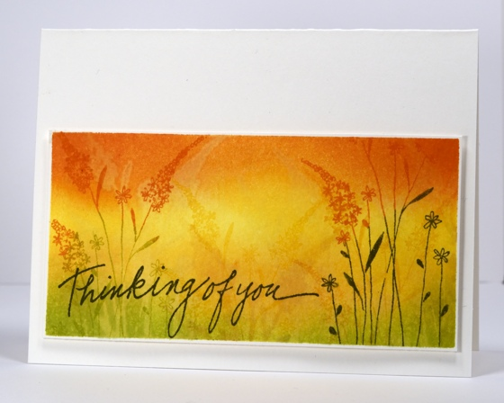 golden watercoloured grasses