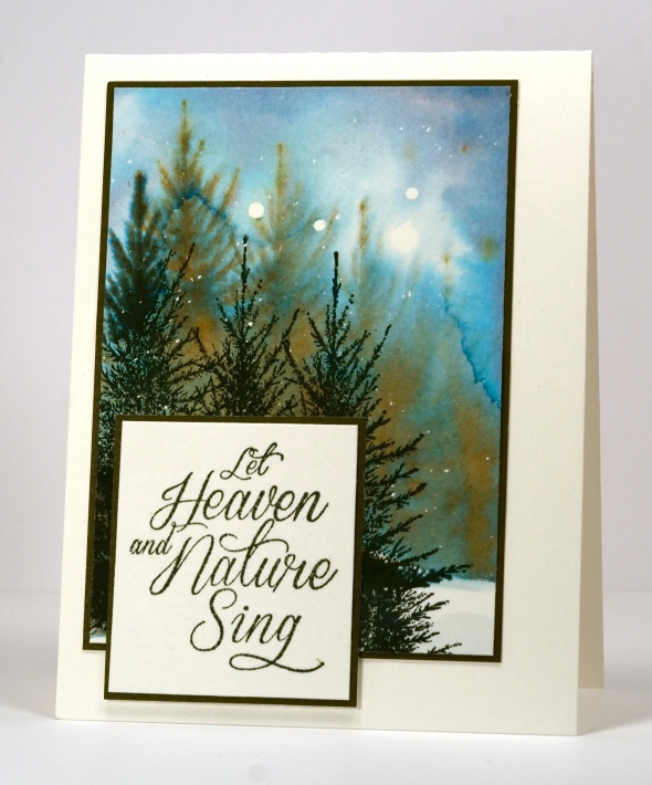 Watercolour snowy forest Heather Telford