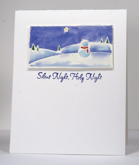 Watercoloured snowman Heather Telford