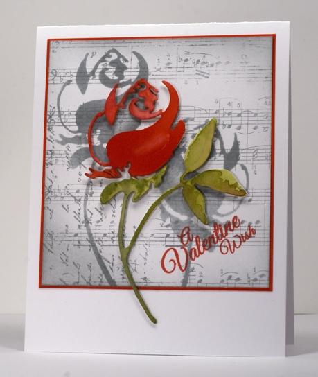 Rose die cut Heather Telford