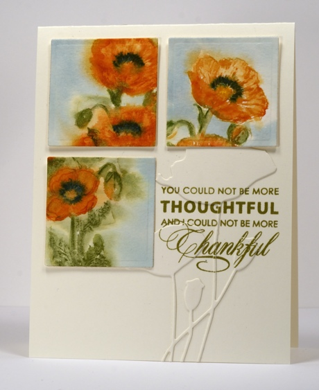 Orange poppy trio Heather Telford