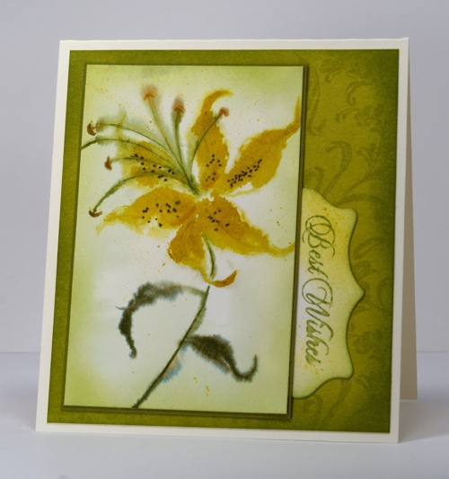 Yellow & Green lily Heather Telford