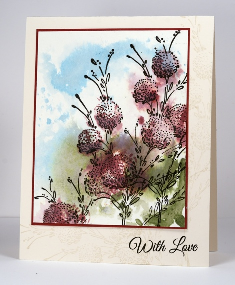 Delicate Floral with watercolour background Heather Telford