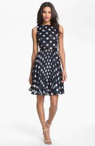navy and white dress