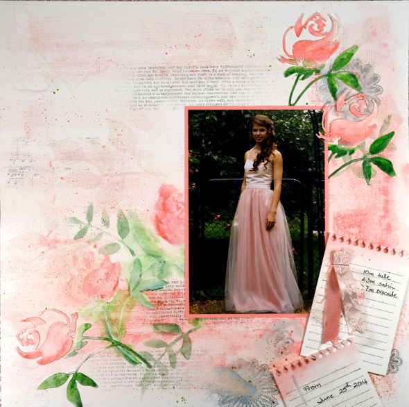 Prom scrapbook page Heather Telford