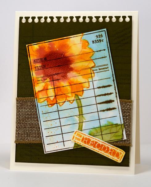 Sunflower library card Heather Telford