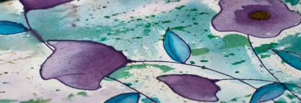 Watercolour with a stencil detail 2 Heather Telford