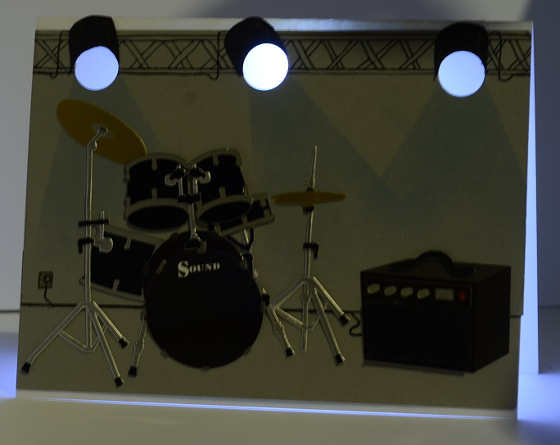 Drum kit lights on