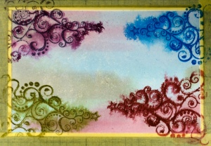 tags background second stamping Heather Telford