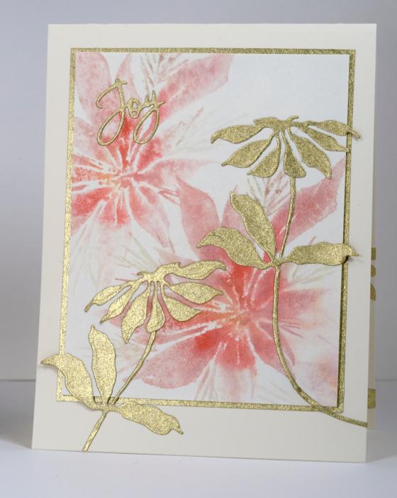 Pink & Gold Poinsettia Heather Telford