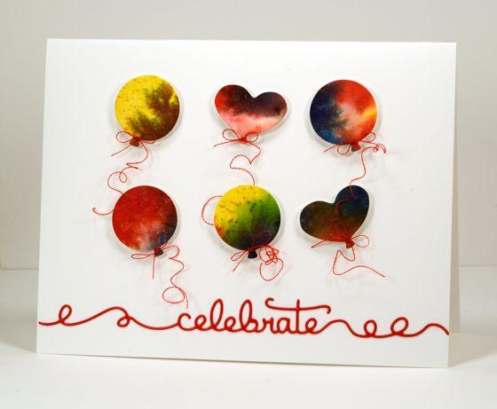 Watercolour balloons Heather Telford