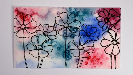 pink and blue floral step 4 Heather Telford