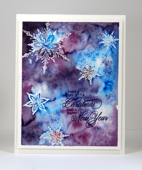 Watercoloured snowflakes Heather Telford