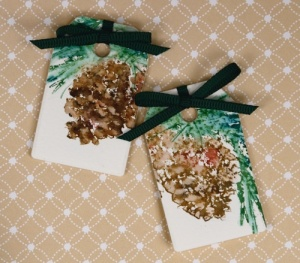 pine cone tags Heather Telford