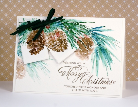 Pine cone tag card Heather Telford