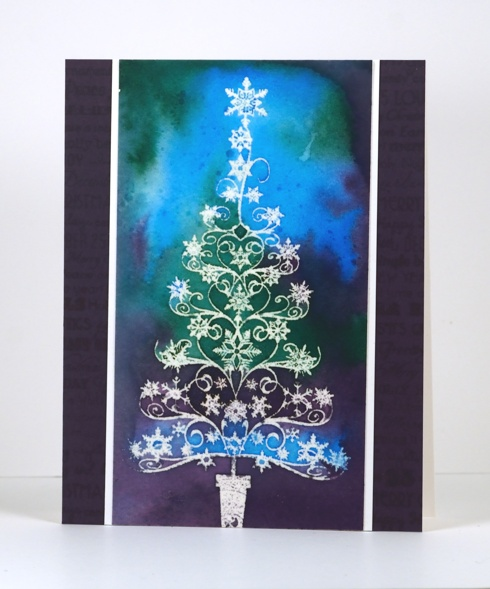 Emboss resist filigree tree Heather Telford