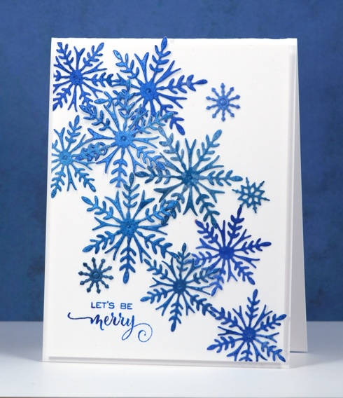 Merry die-cut snowflakes Heather Telford