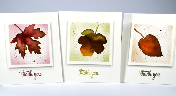 leaf mini cards Heather Telford