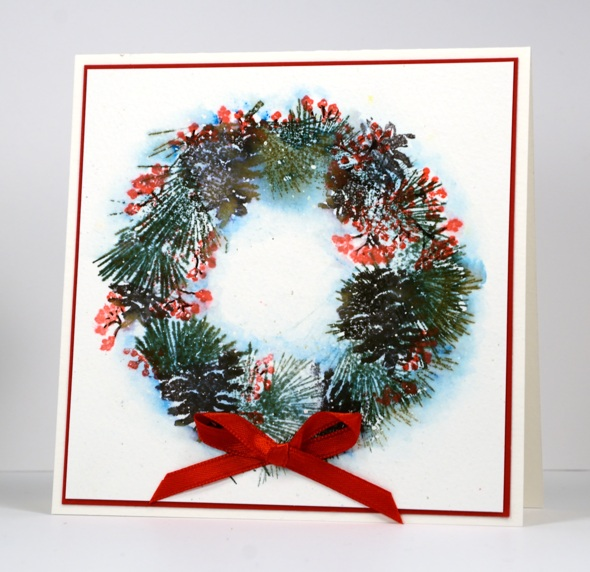 stamped wreath Heather Telford