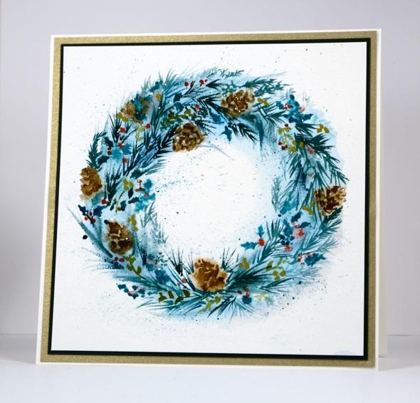 Painted wreath Heather Telford