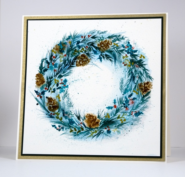 Painted wreath Heather Telford