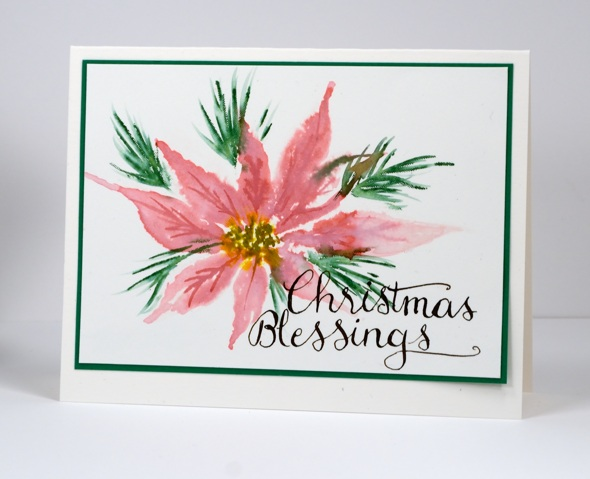 Stamped Poinsettia Heather Telford