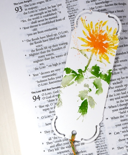 orange flower bookmark Heather Telford