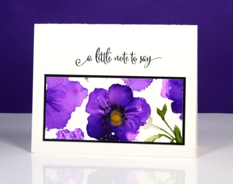 Purple Poppy pattern Heather Telford
