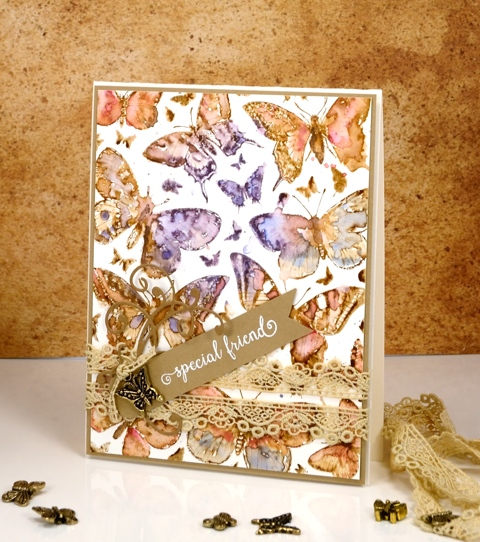 vintage watercolour butterflies Heather Telford