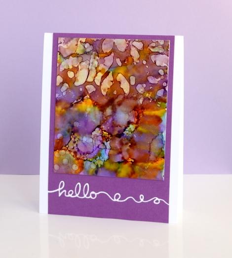 purple hello Heather Telford