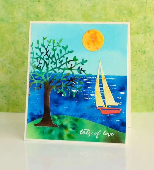 sun and sea die cuts Heather Telford