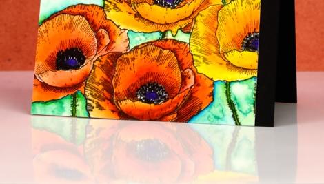 love art poppies reflection Heather Telford