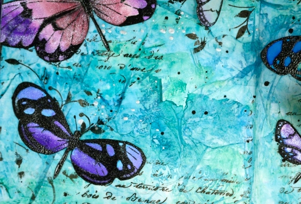 butterfly and background detail Heather Telford