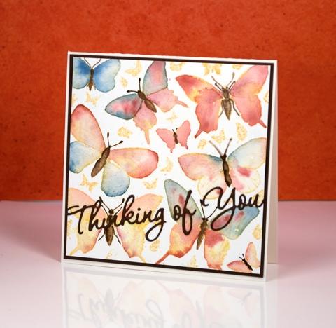 colour drop butterflies Heather Telford