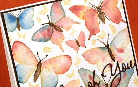 colour drop butterflies detail Heather Telford