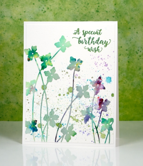 dancing watercolour floral Heather Telford