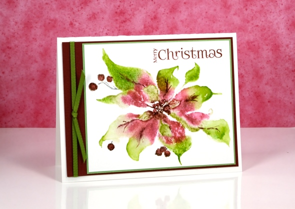 Pink & greeen poinsettia Heather Telford